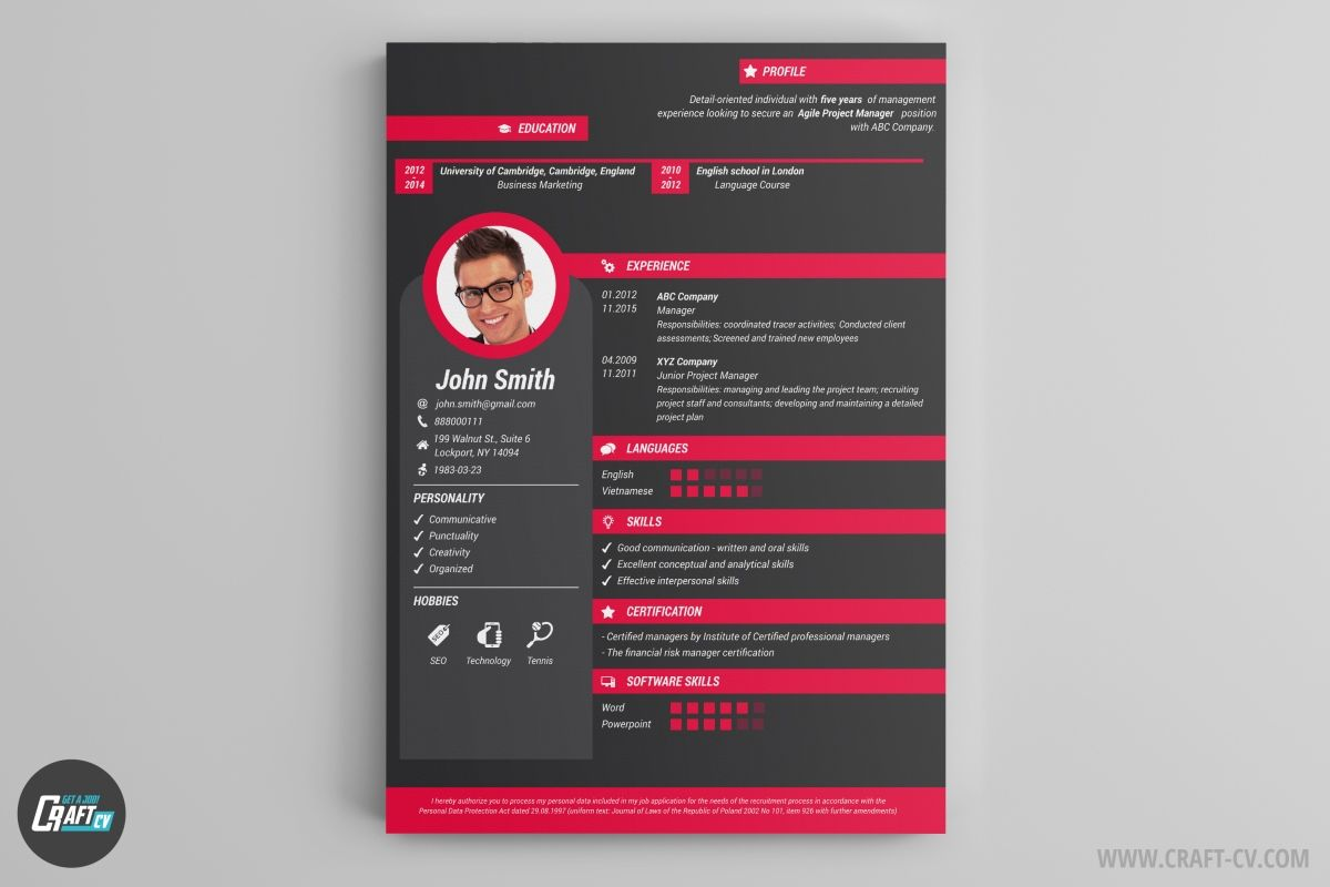 Creative Cv Template 1200—800 Aa Pinterest