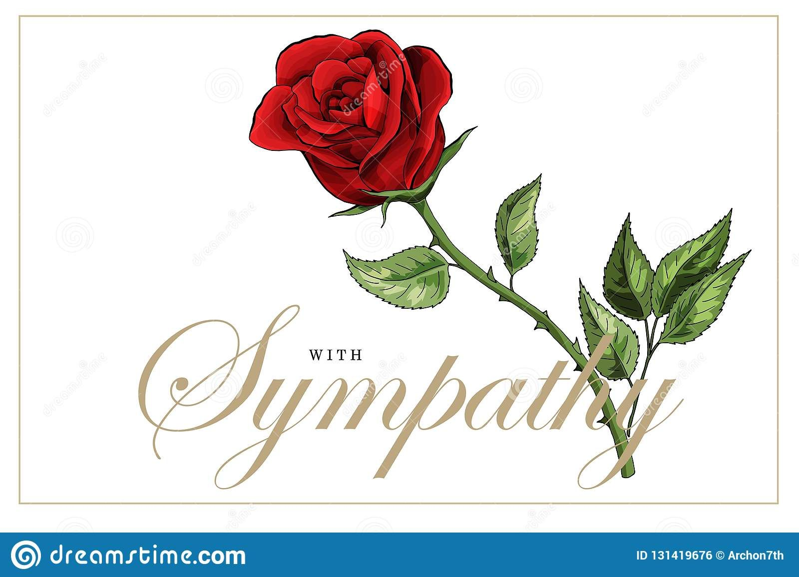 Condolences Sympathy Card Floral Red Roses Bouquet And Intended For Sorry For Your Loss Card Template Professio Sympathy Cards Red Rose Bouquet Card Template