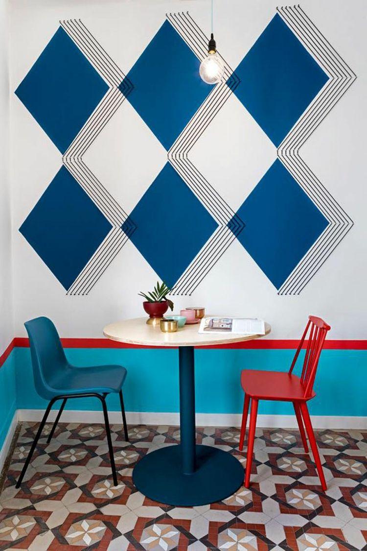 Decorar paredes ideas al estilo del hostel valencia - Diseno de pintura para interiores ...