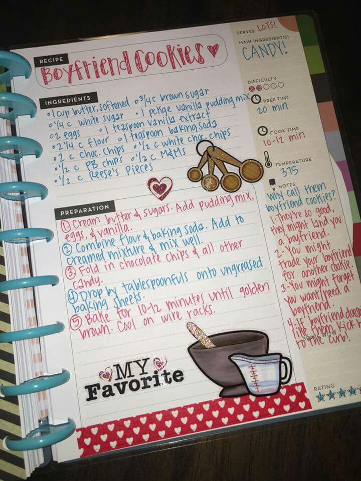 Contoh Diary Sehari Hari : contoh, diary, sehari, Recipe, Scrapbook, Book,, Cookbook
