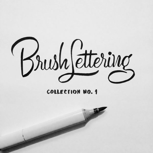 Brush lettering collection no script