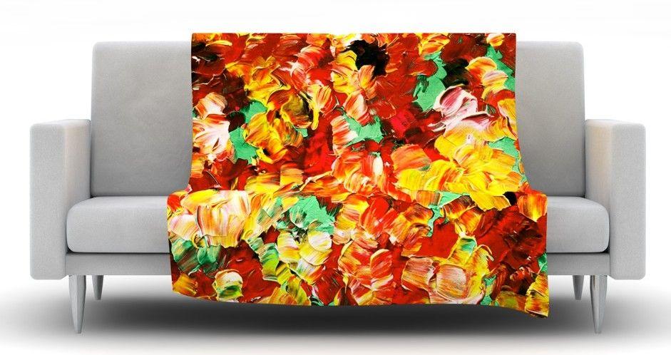 Floral Fantasy II Fleece Throw Blanket