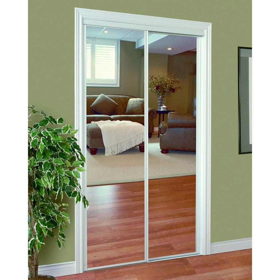 Shop Reliabilt 72 In X 80 In White Mirrored Interior Sliding Door At Lowes Com Mirror Closet Doors Home Decor House Furniture Design