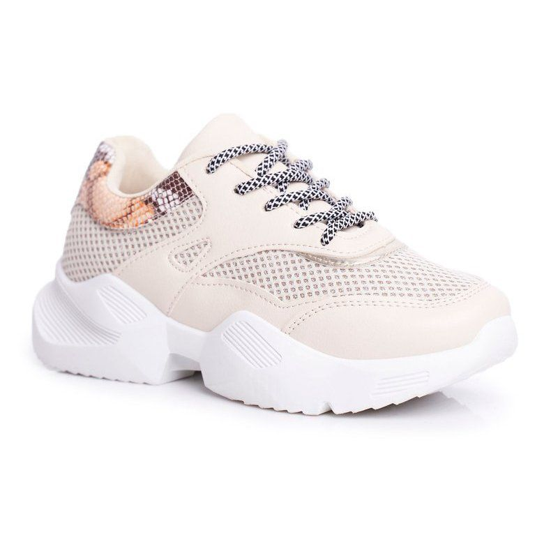 Ps1 Sportowe Damskie Buty Wezowe Bezowe Giselle Bezowy Sneakers Baby Shoes Shoes