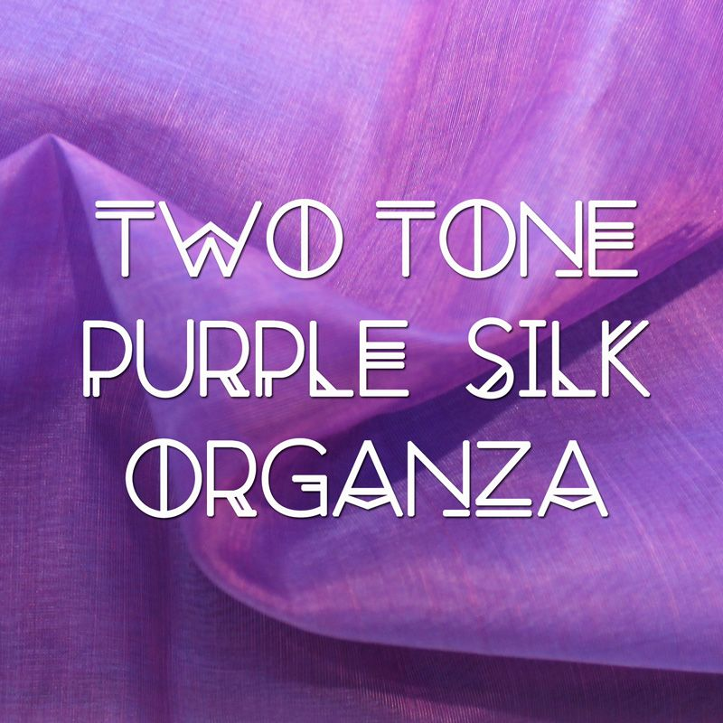 Two Tone Purple Peace Silk Organza: £8.99 /m Buy 100 for £4.52/m and save 50%.