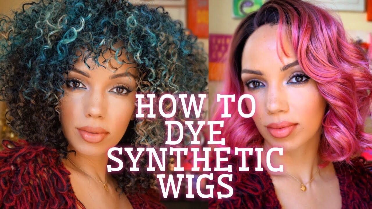 How To Dye Synthetic Wigs Diy Real Wigs Wigs Synthetic Wigs