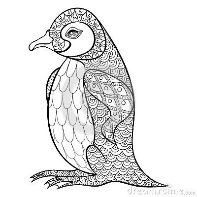 Penguin pages for adults coloring pages for Penguin adult coloring pages