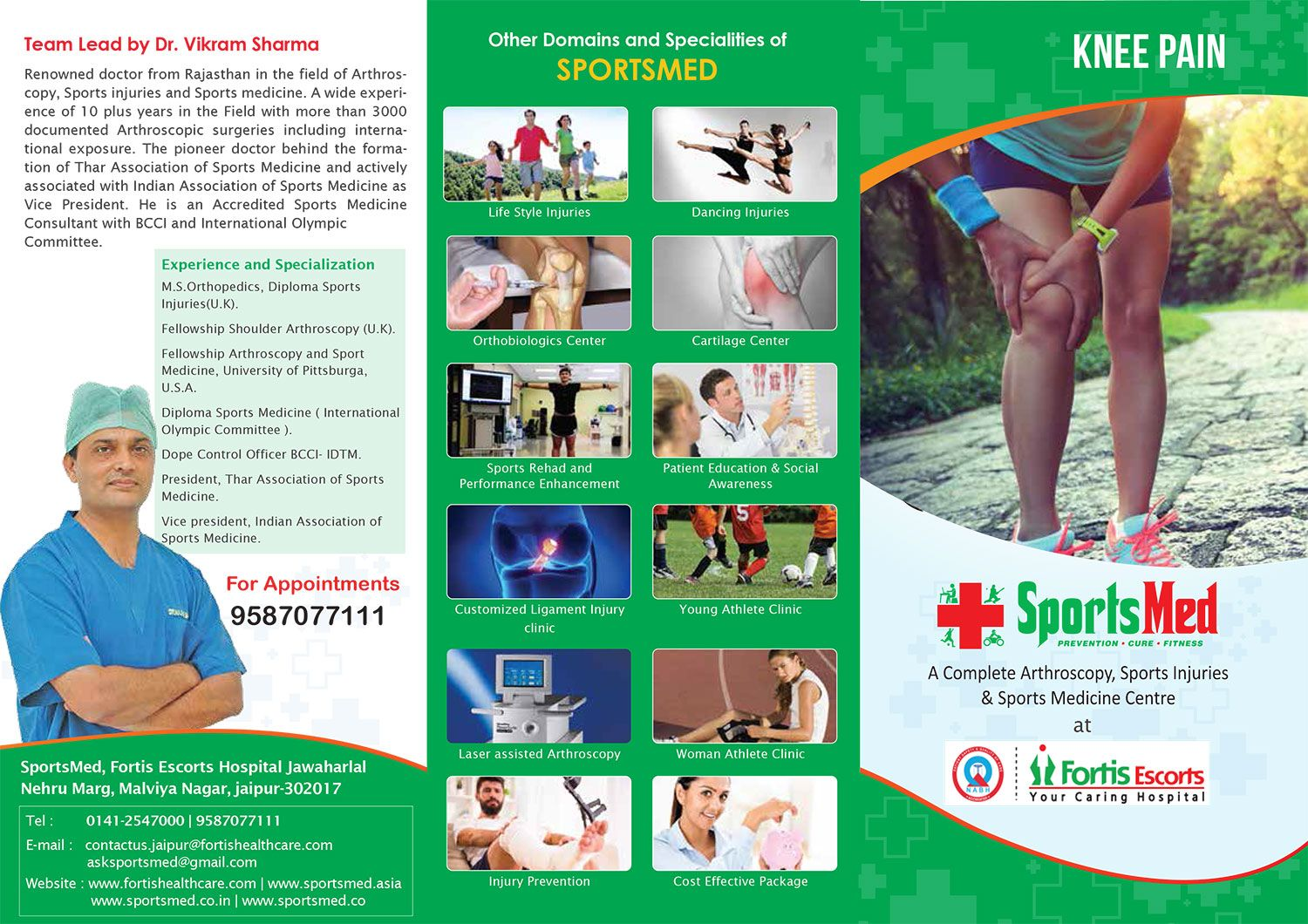 Looking for Arthroscopy in Jaipur must visit Sports Med