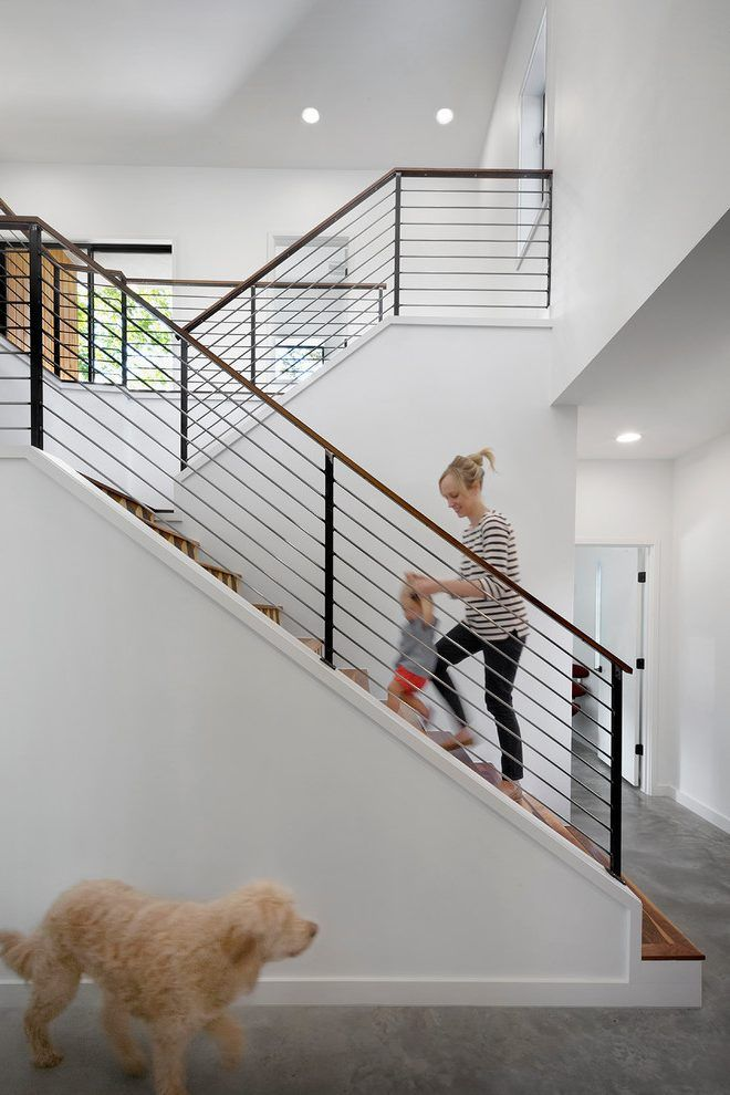 Best Austin Outdoor Stair Railing Staircase Contemporary With 400 x 300