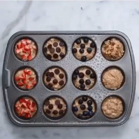 Delicious and easy muffins 😍 By @goodful  Follow @foodohub for more! 👇🏼Tag a friend who would love this👇🏼 . . . . .