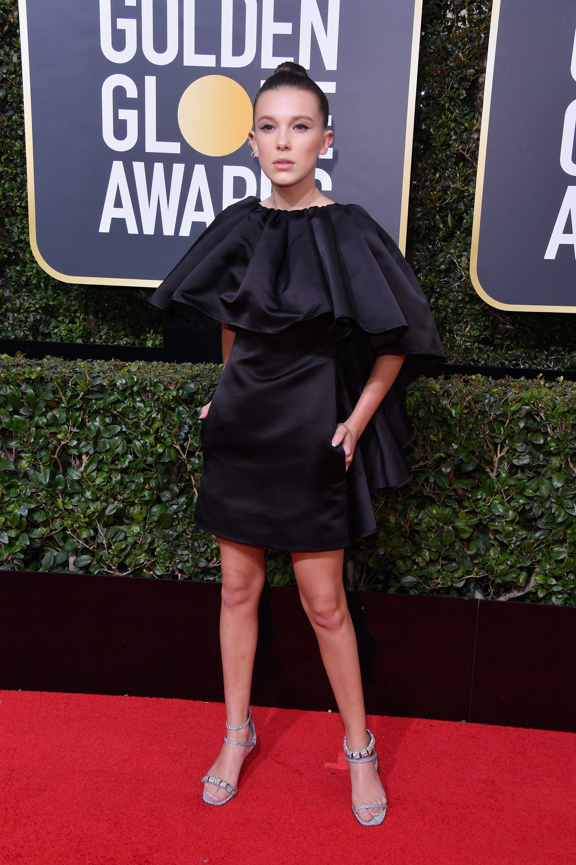 b260c96a14a1 Millie Bobby Brown - 2018 Golden Globe Awards
