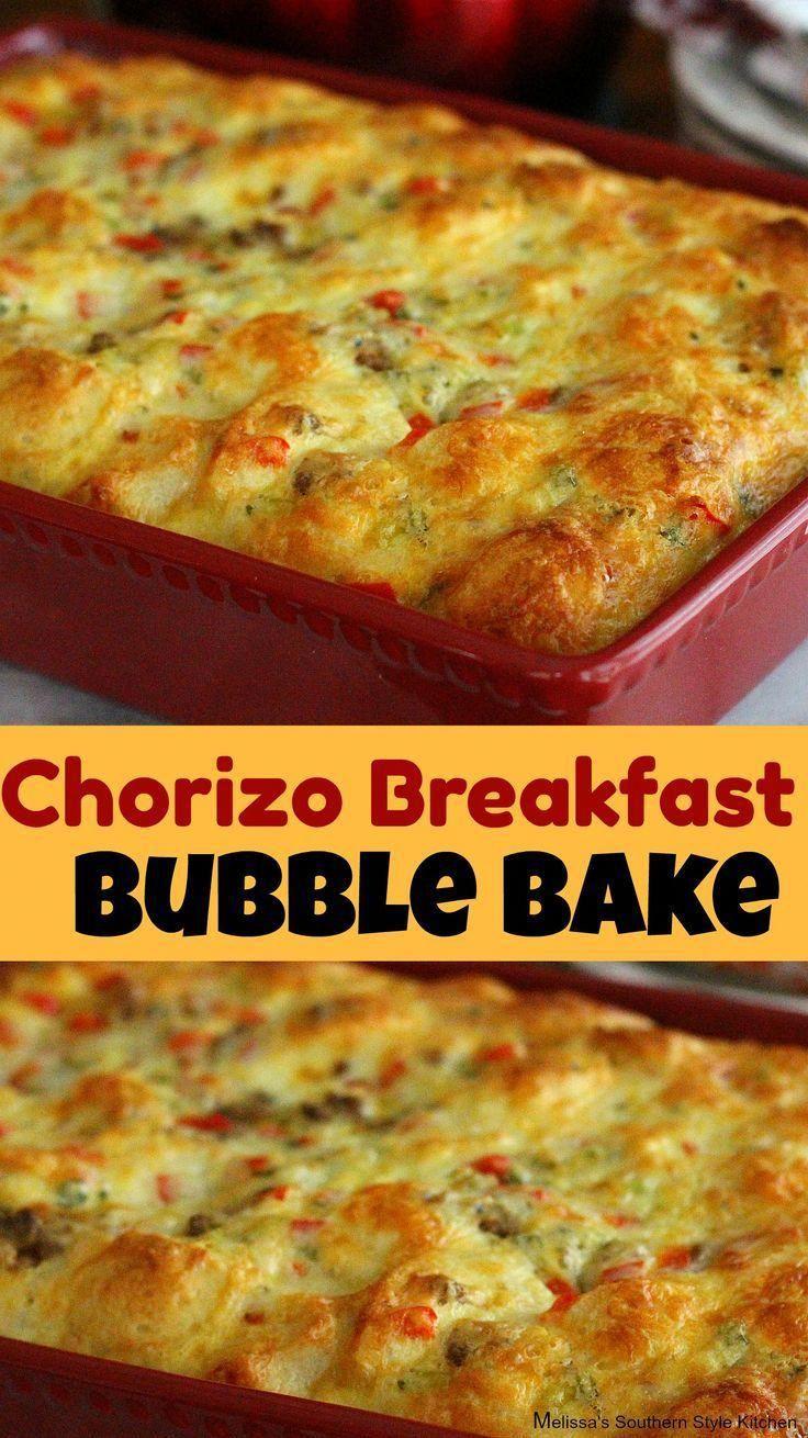 Chorizo Breakfast Bubble Bake #brunch #breakfast #makeahead #chorizo #holidaybrunchrecipes #christmas #easter #casseroles #recipes #food #cheesy #newyearseve #chorizorecipesappetizers