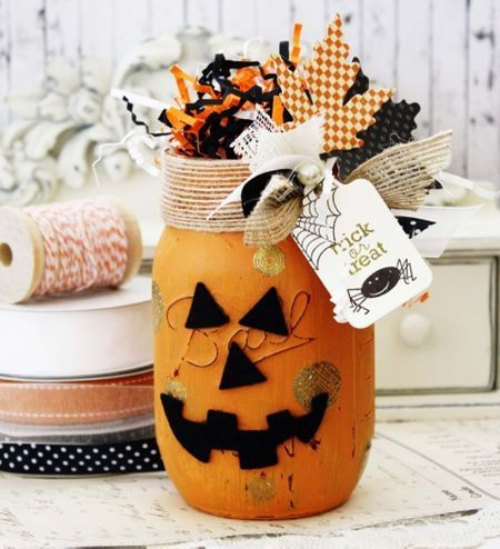 Make It Monday #182 Mason Jar Stamping ({capture the moment}) Jar - halloween jar ideas