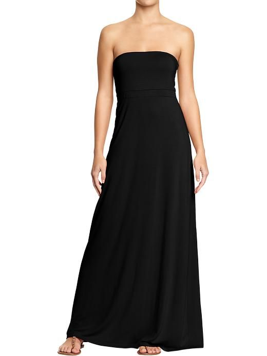 A perfect basic from Old Navy... Black strapless maxi dress. Looks ...