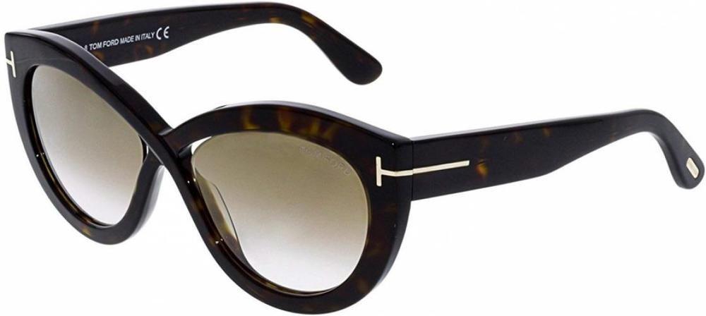 65e61002bc 2018 Tom Ford Diane-02 FT0577 52G Women Dark Havana Infinity Cat-Eye  Sunglasses