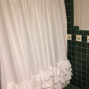 Shower Curtain With Ruffles On Bottom
