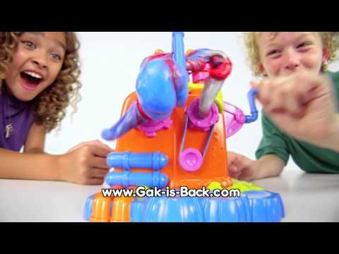 The Nickelodeon Gak Mixer is the ultimate Gak compound creation station. It mixes Gak into the coolest, twisty creations and lets you make Gak colors no one has ever seen before! It comes with 6 different Gak compounds that let you make hundreds and hundreds of Gak color combinations. You've got the knack for GAK!