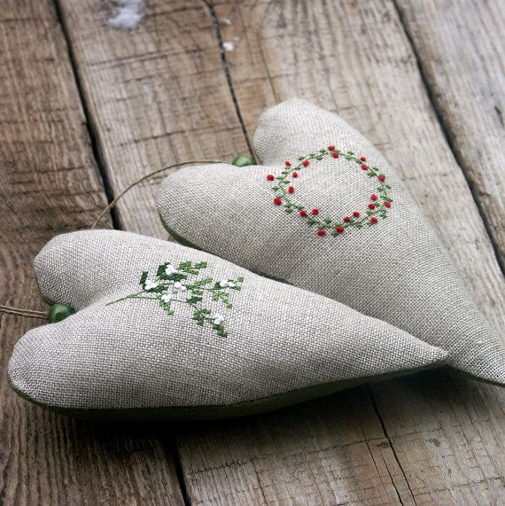 Christmas winter ornaments by BelaStitches on Etsy, $29.00