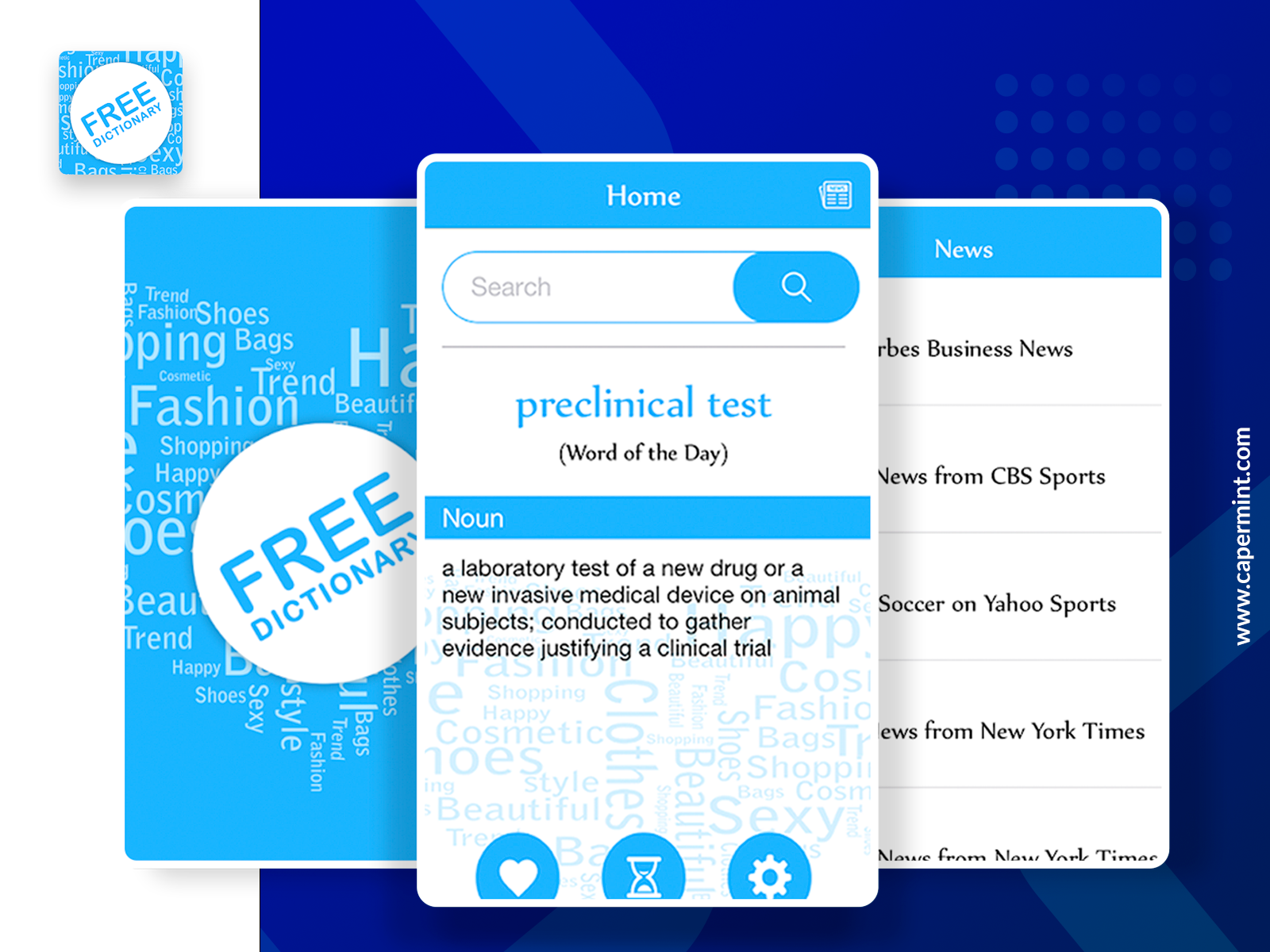 Find our free dictionary app and pick up the new