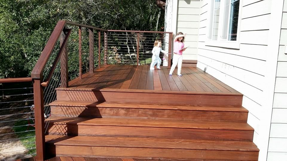 Best Wood Steps With Cable Railiing Deck Stairs Wood Steps 400 x 300