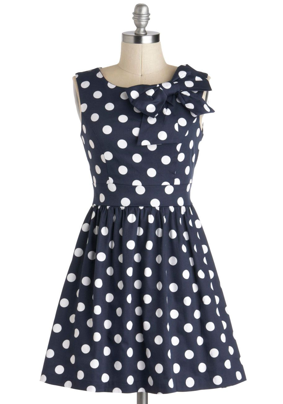 Lush with Beauty Dress in Garden | Polka dots, Fit and Retro vintage