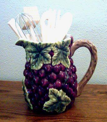 A Touch Of Class Palm Tree Decor | Grape Theme | Grape Ceramic Kitchen  Decor |