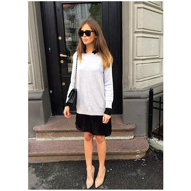 WILD WOOL Oversized sweater light grey on Norwegian Blogger Darja ...