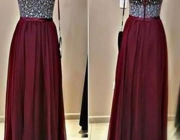 The Long Custom Prom Dress are fully lined, 4 bones in the bodice, chest pad in the bust, lace up back or zipper back are all available, total 126 colors are available.This dress could be custom made,..