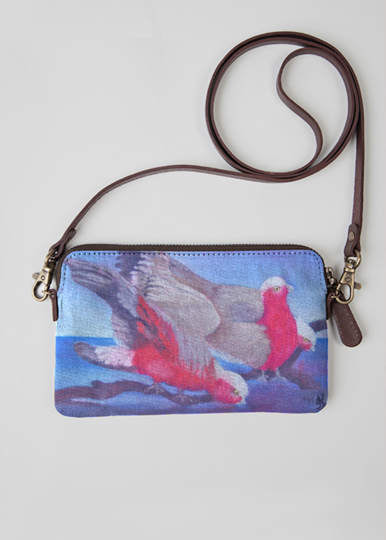 VIDA Leather Statement Clutch - Abstract Woman Painting by VIDA TRsuFOx