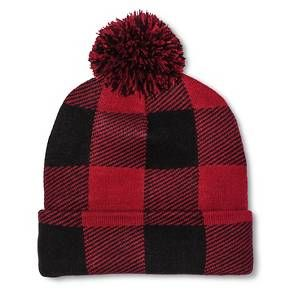 Men's Buffalo Check with Pom Red/Black One Size - Mossimo Supply Co.™ : Target