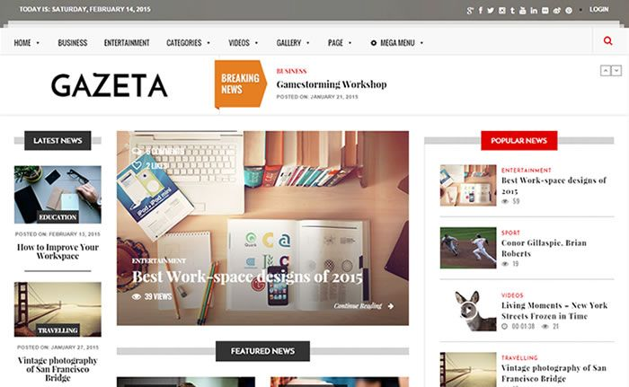 Gazeta Powerful Responsive WordPress Magazine Theme http://www.wpdiv.com/download-gazeta-responsive-wordpress-magazine-theme/