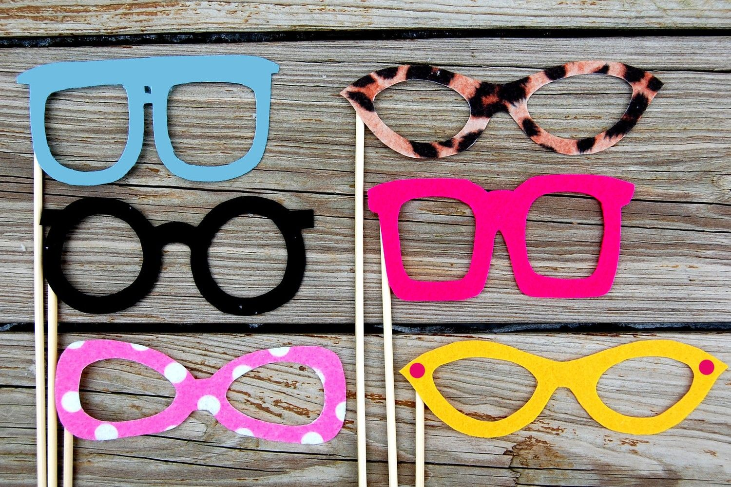 Holiday Sale Photobooth Props Glasses On A Stick Set Of By