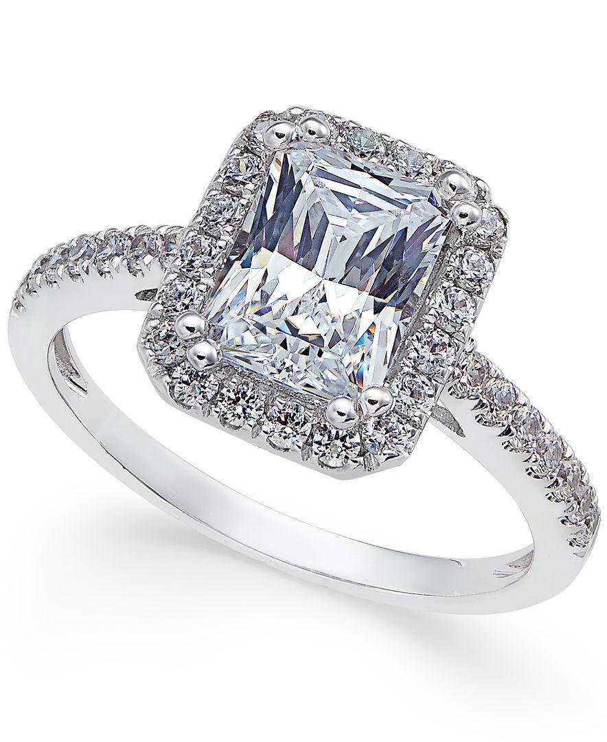 baa771d654df92 Arabella Swarovski Zirconia Square Ring in 14k White Gold, Only at Macy's