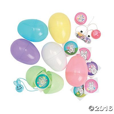 Jumbo Toy Filled Pastel Plastic Easter Eggs 24 For 798 At Oriental Trading