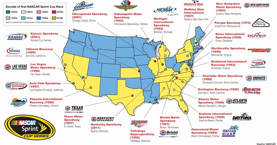 Map Of Nascar Tracks Picture nascar race mom nascar tracks 960 X 504 ...