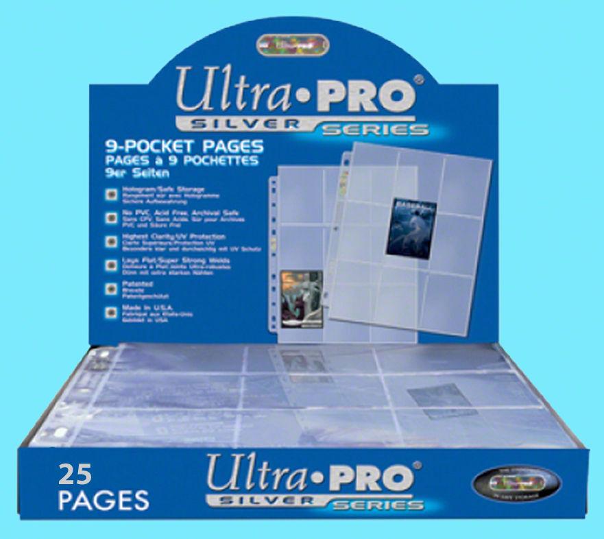 NINE POCKET PLASTIC SHEETS by Ultra Pro ~ Lot of 25