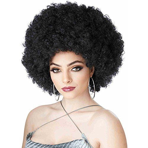 Ladies 70s Auburn Realistic Red Afro Wig Foxy Lady Disco Fancy Dress Accessory