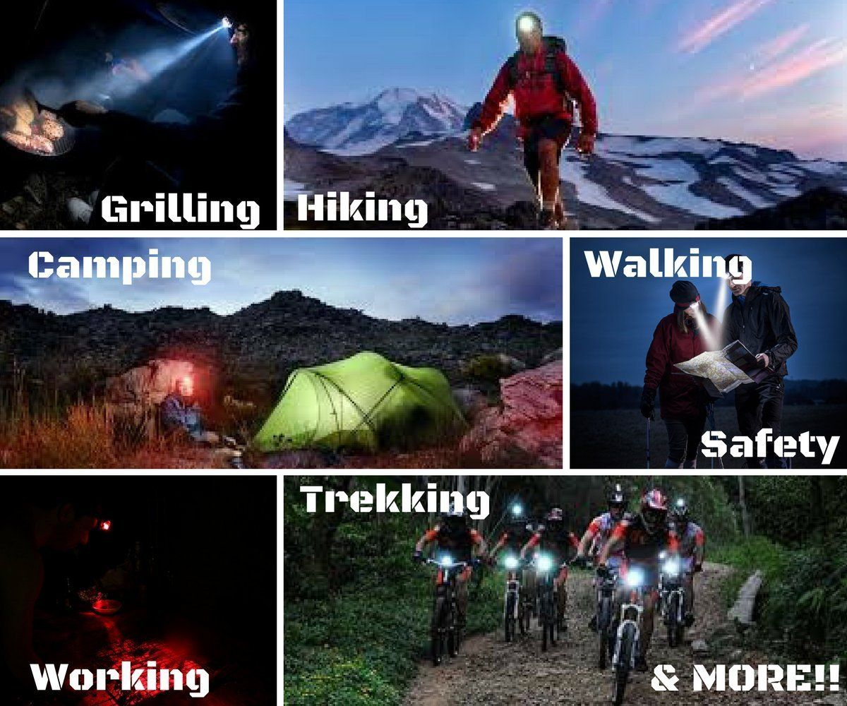 Lite Aid Rechargeable Led Headlamp Flashlight Convenient Headlight Senter Kepala 30 Watt For Camping Hiking Walking