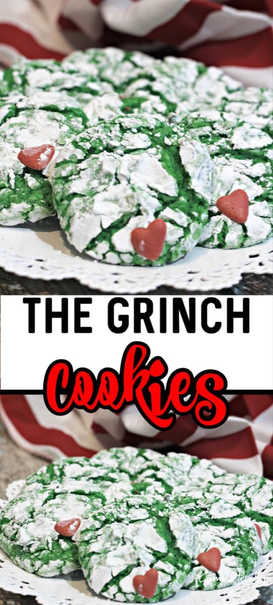 Crinkly, Cranky, Grinch Cookies