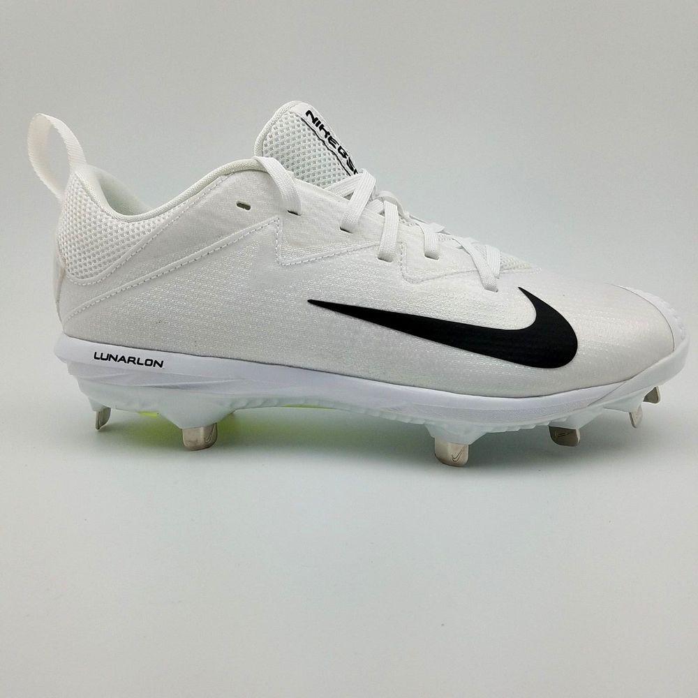 outlet store 6b013 9bd78 Nike Lunar Vapor Ultrafly Metal Baseball Cleats White 852696-101 Mens Size  7.5  Nike