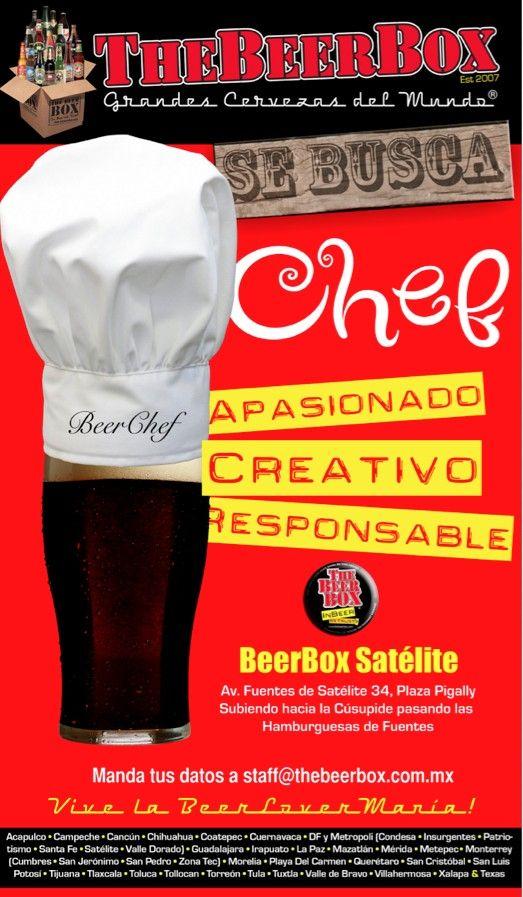 """""""Una Buena Cerveza se merece una excelente comida!"""" BeerBox Staff"""