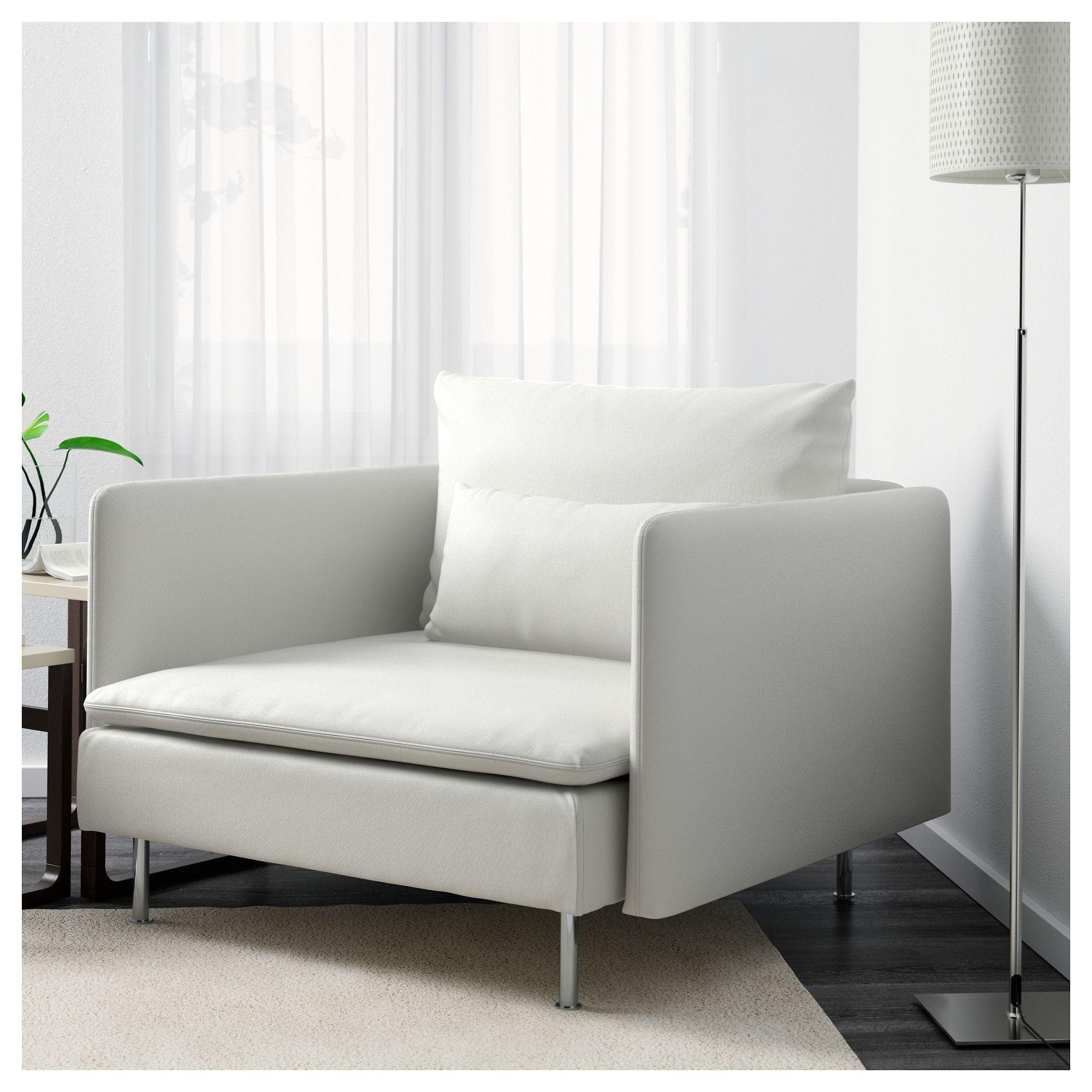 SÖDERHAMN Armchair Finnsta white White chair, Armchair