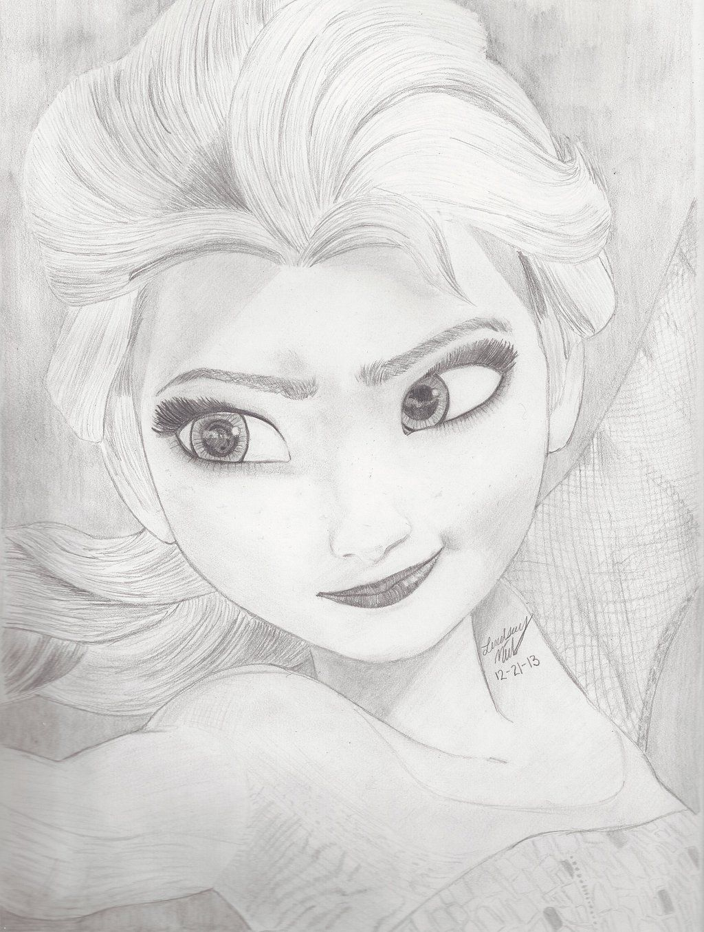 Elsa From The Disney Movie Frozen Drawing Frozen Drawings Cartoon Drawings Drawings