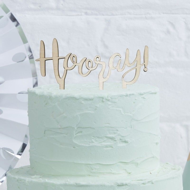 Rose Gold Hooray Candle Cake Topper Birthday Wedding Hen Party Cake Decoration Feste & Besondere Anlässe