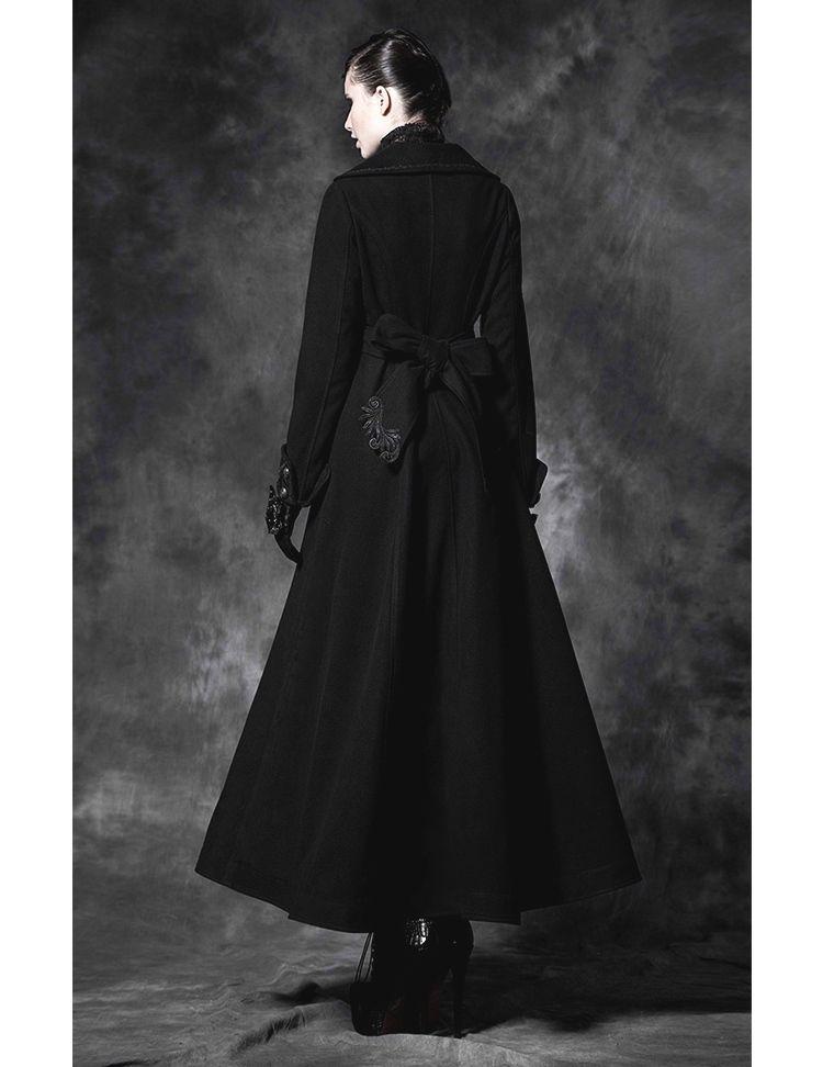 Long Manteau gothique noir femme PUNK RAVE …   life   Coat,… 65c88863315