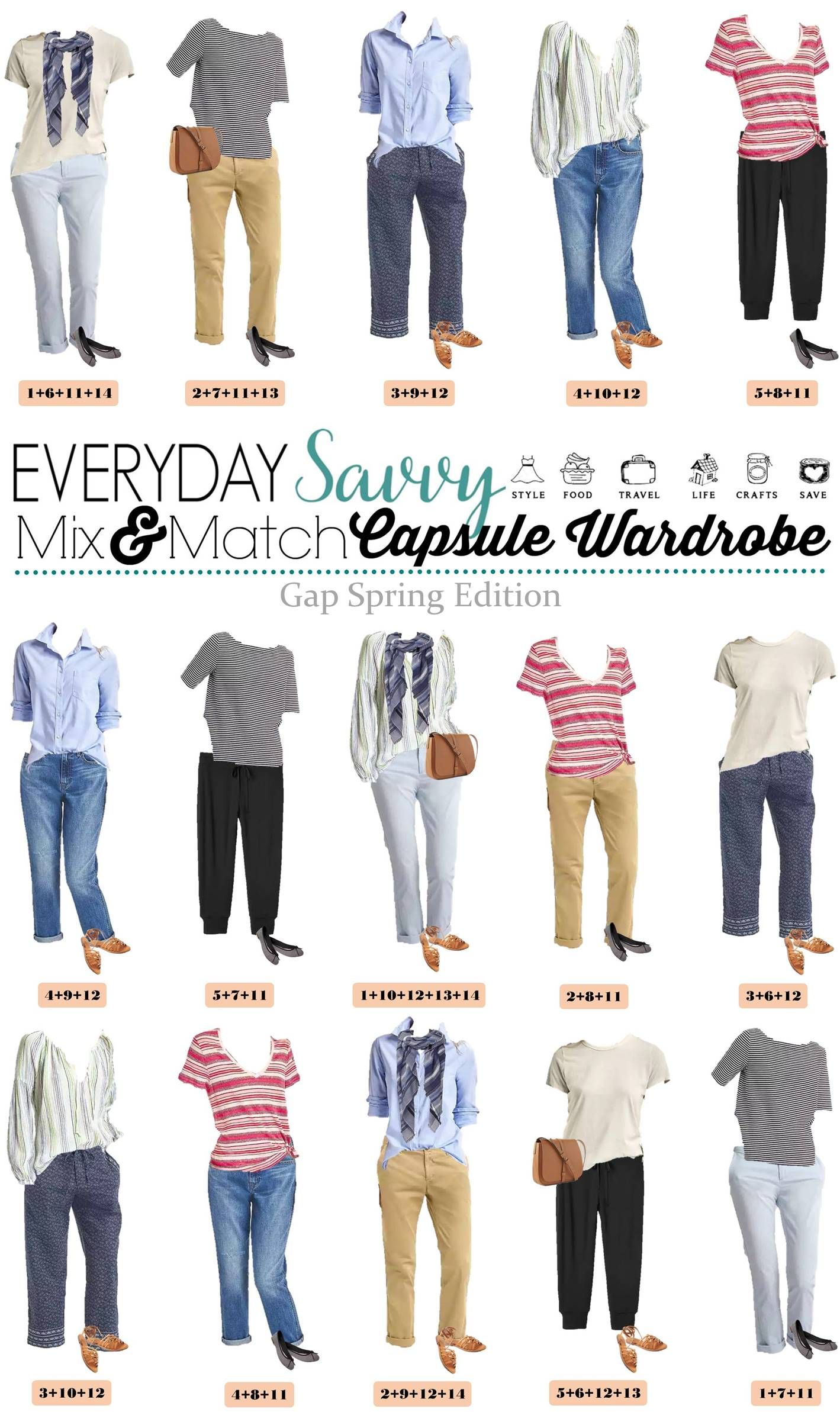 Cute Spring Outfits Capsule Wardrobe Great For Everyday