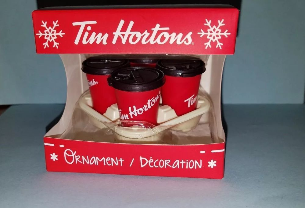 Tim Hortons Christmas Ornaments 2019 New TIM HORTON'S Coffee Takeout Carryout TRAY & red CUPS Christmas
