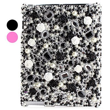 Diamond and Flower Surface Hard Case for iPad 2 and the New iPad (Assorted Colors)