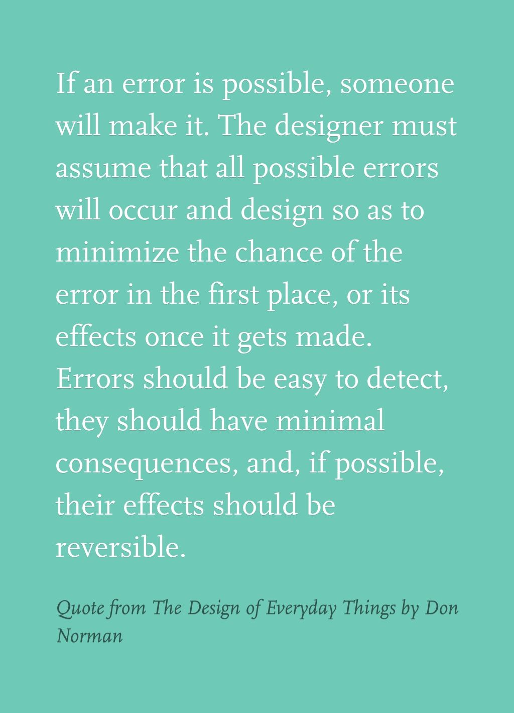 quote from the design of everyday things by don norman book