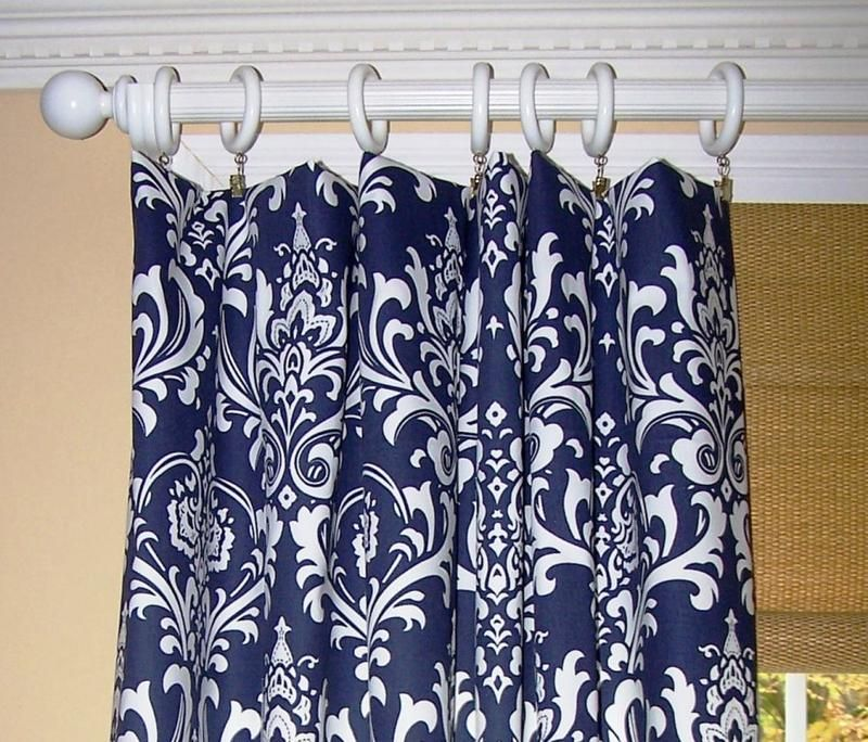 Navy Blue Shower Curtains in 10 Awesome Patterned Designs ...